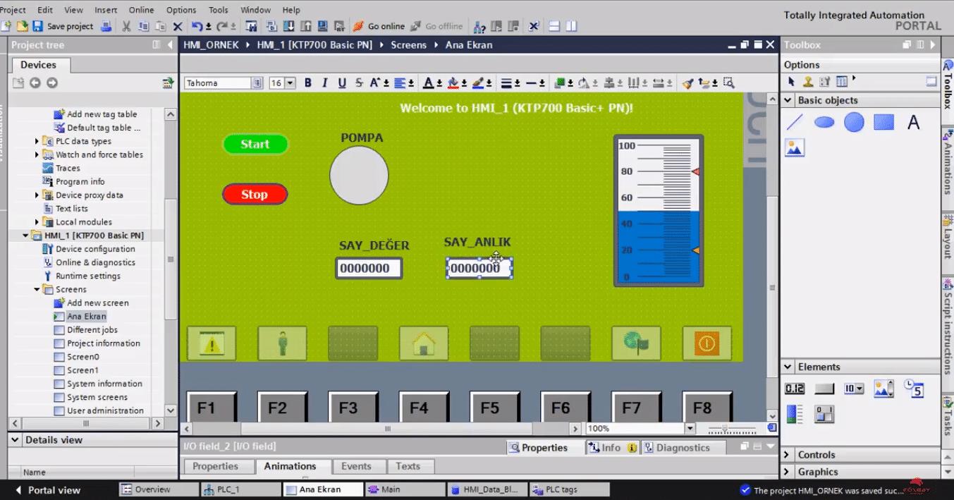 Photo of Siemens HMI ekran kullanımı (KTP 700) – Örnekler – PLC'de Analog Sinyal İşleme