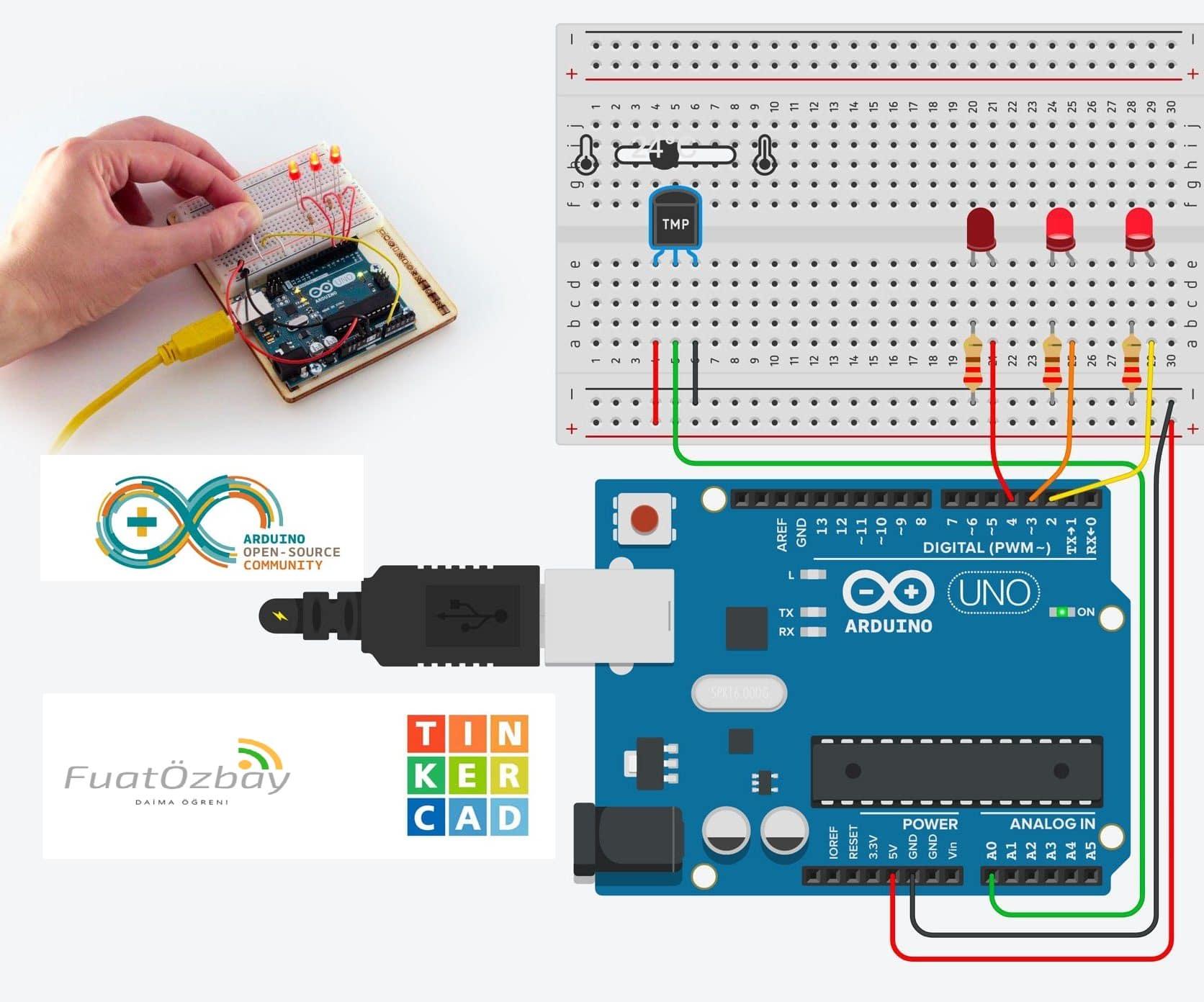 Photo of Tinkercad.com Arduino örnekleri 2 – Ücretsiz Arduino Simülasyon Uygulaması